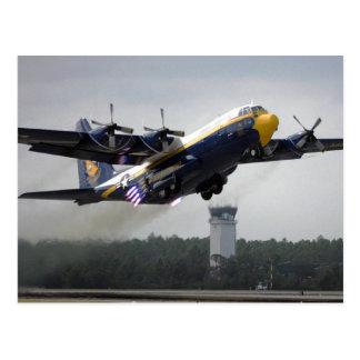 """C-130T Hercules - """"Fat Albert"""" Blue Angels Postcar Postcard"""
