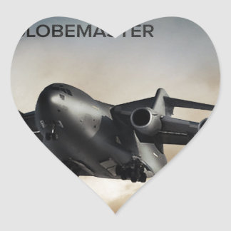 C-17 Globemaster Cargo Airplane Heart Sticker