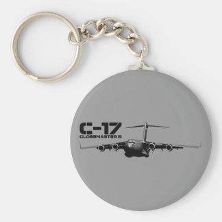 C-17 Globemaster III Basic Round Button Key Ring