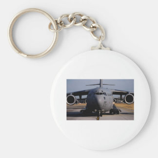 C-17 Globemaster III Basic Round Button Key Ring