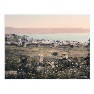 c 1890 Vintage Tiberias Israel Panorama Postcards