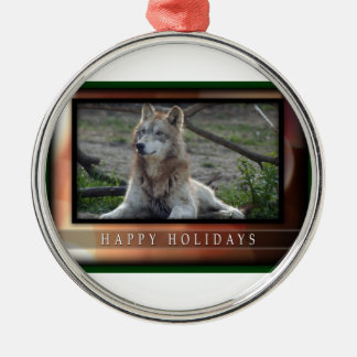 c-2011-grey-wolf-034 Silver-Colored round decoration