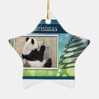 c-2011-panda-0022 ceramic star decoration