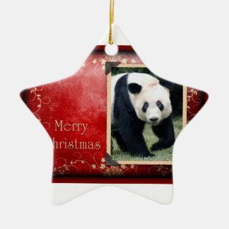 c-2011-panda-0074 ceramic star decoration