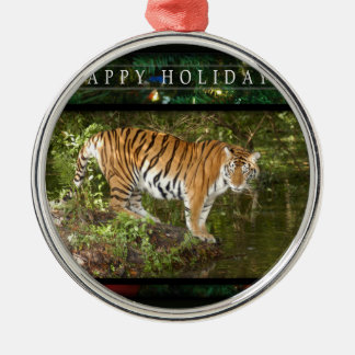 c-2011-tiger-012 Silver-Colored round decoration
