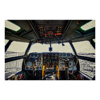 C-46 Cockpit Poster
