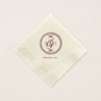 C and M monogrammed cocktail napkins Paper Napkins