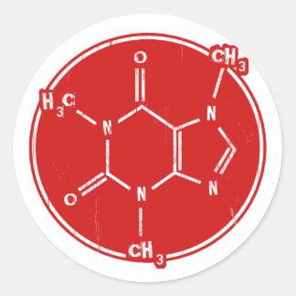 C-C-Caffeine Classic Round Sticker
