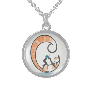 C Cat Sterling Silver Necklace
