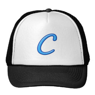 C CC CCC ALPHA ALPHABETS JEWELS GIFTS TRUCKER HAT