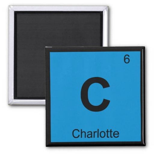 C - Charlotte North Carolina Chemistry Symbol Magnets