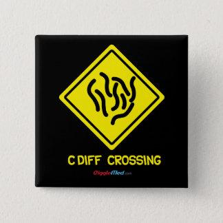 C. Diff Crossing Sign 15 Cm Square Badge