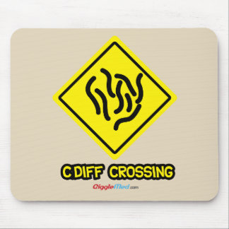C. Diff Crossing Sign Mouse Pad