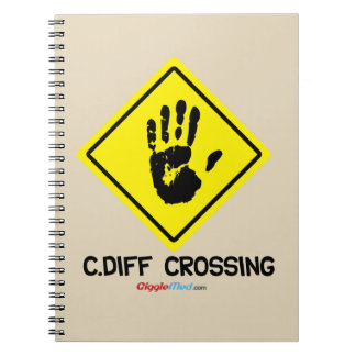 C. Diff Crossing Sign Spiral Notebook