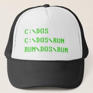 C:\DOS C:\DOS\RUN RUN\DOS\RUN Funny Computer Joke Trucker Hat