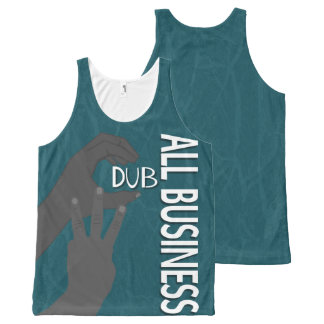C Dub All Business BW All-Over Print Singlet