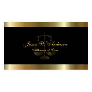 C E Lawyer Gold Black Business Card