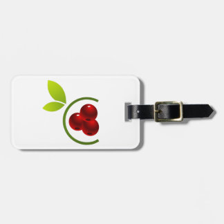 C for cherry bag tag