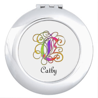 C Gothic Sunshine Mirror Compact with Name Mirror For Makeup