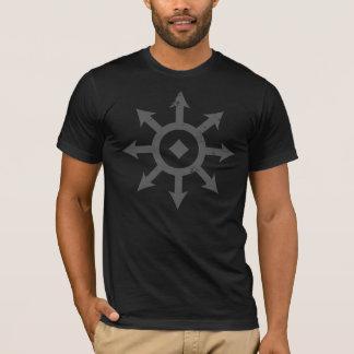 C H A O S Crest Distressed Mens Dark Grey T-Shirt