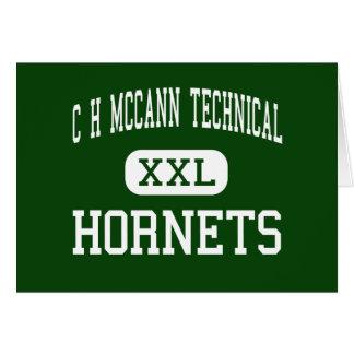 C H McCann Technical - Hornets - North Adams Greeting Card