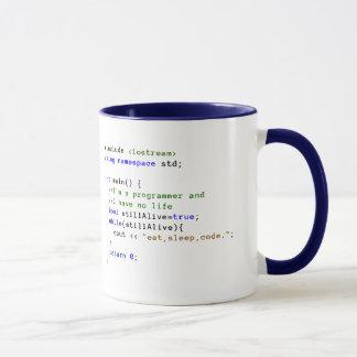 C++ Infinite Loop Eat, Sleep, and Code Mug