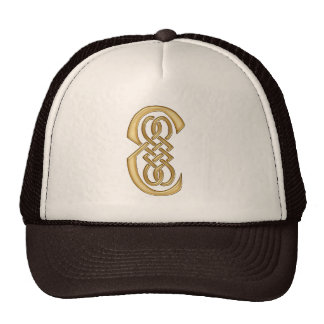 C Initial-Branded Personalised Fashion Hat