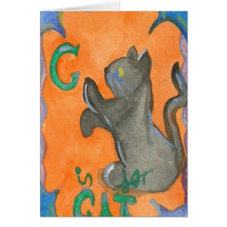 C is for Cat Card