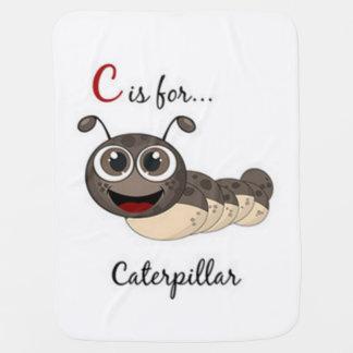 C Is For Caterpillar Baby Blanket