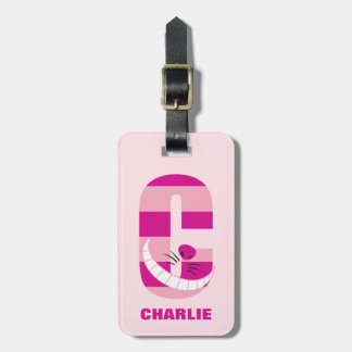 C is for Cheshire Cat | Add Your Name Luggage Tag