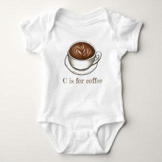 C is for Coffee Seattle Latte Letter C Alphabet Baby Bodysuit