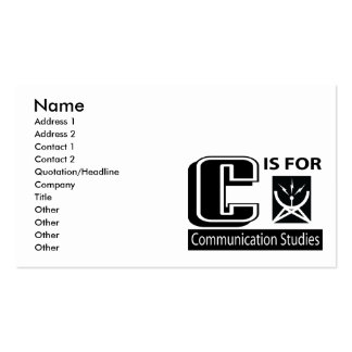 C Is For Communication Studies Business Card Template