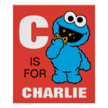 C is for Cookie Monster | Add Your Name Poster
