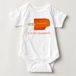 C is for Creamsicle Orange Ice Cream Popsicle Baby Bodysuit