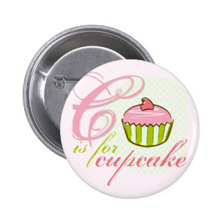 C Is For Cupcake Button