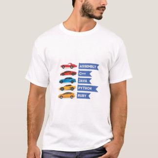 C++ Java Python Ruby Language Car Comparison T-Shirt