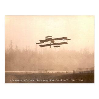 C.K. Hamilton's Flight Postcard