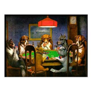 C. M. Coolidge Dogs Pets Poker Cards Humor Destiny Postcard