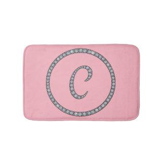 C Monogram bling bath mat rug Bath Mats