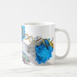 c-Myc and Notch binding DNA Coffee Mug