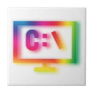 C:\ Nerds and Geeks Rejoice ! Ceramic Tile