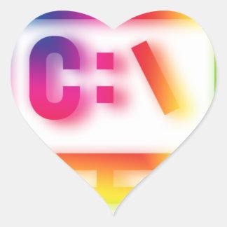 C:\ Nerds and Geeks Rejoice ! Heart Sticker