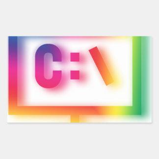C:\ Nerds and Geeks Rejoice ! Rectangular Sticker