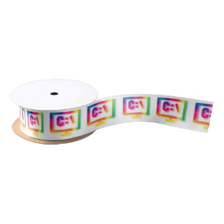 C:\ Nerds and Geeks Rejoice ! Satin Ribbon