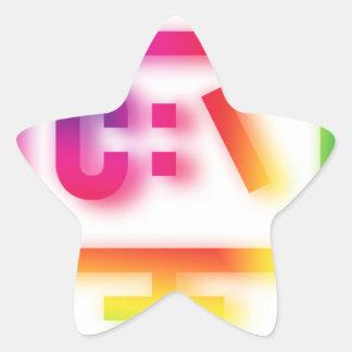 C:\ Nerds and Geeks Rejoice ! Star Sticker
