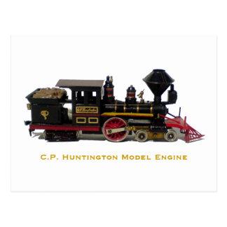 C.P. Huntington Model Engine postcard