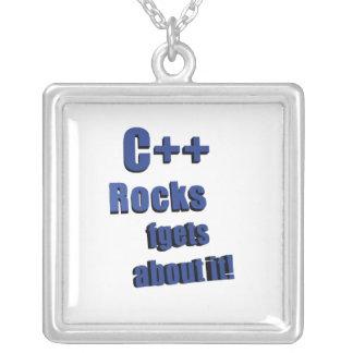 C++ Rocks FGet About It Pendants