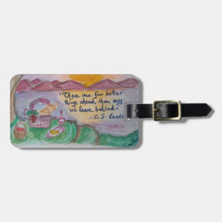 C S Lewis knows how to ease good byes! Luggage Tag