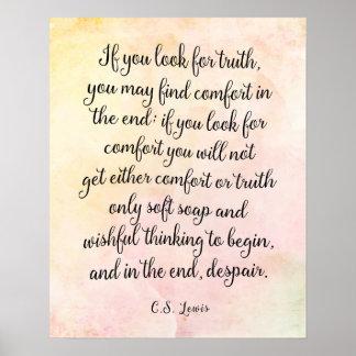 C.S. Lewis Truth Quote Art Print