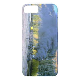 C&TSRR freight nears Weed City_Steam Trains iPhone 7 Case